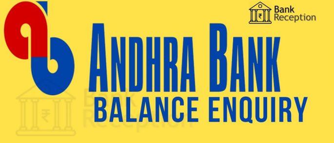 Andhra Bank Balance Check