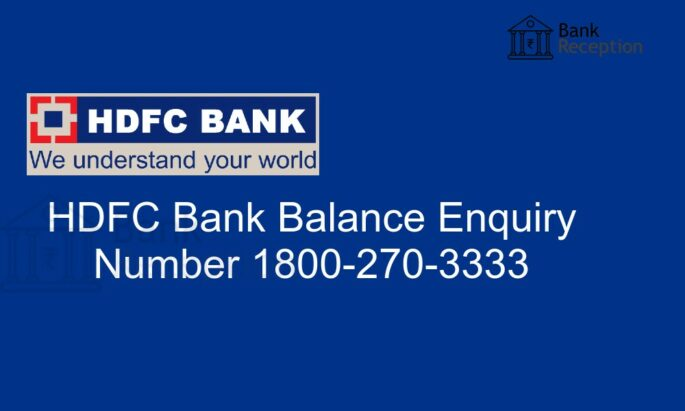 hdfc bank balance checking toll free number