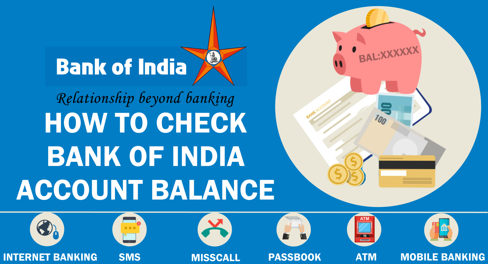 Bank of India Balance Check