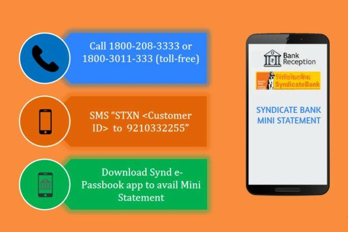 Syndicate Bank Mini Statement