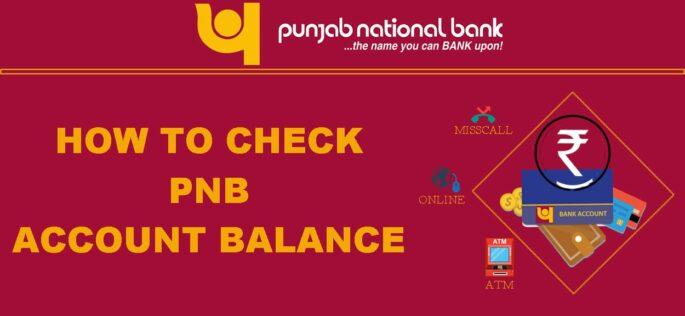 PNB aacount balance check
