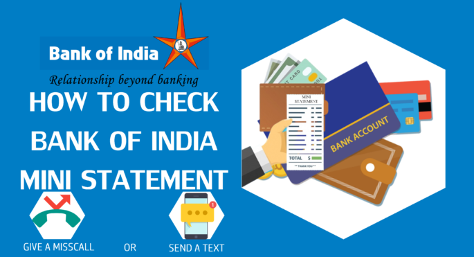 Bank of India Mini Statement