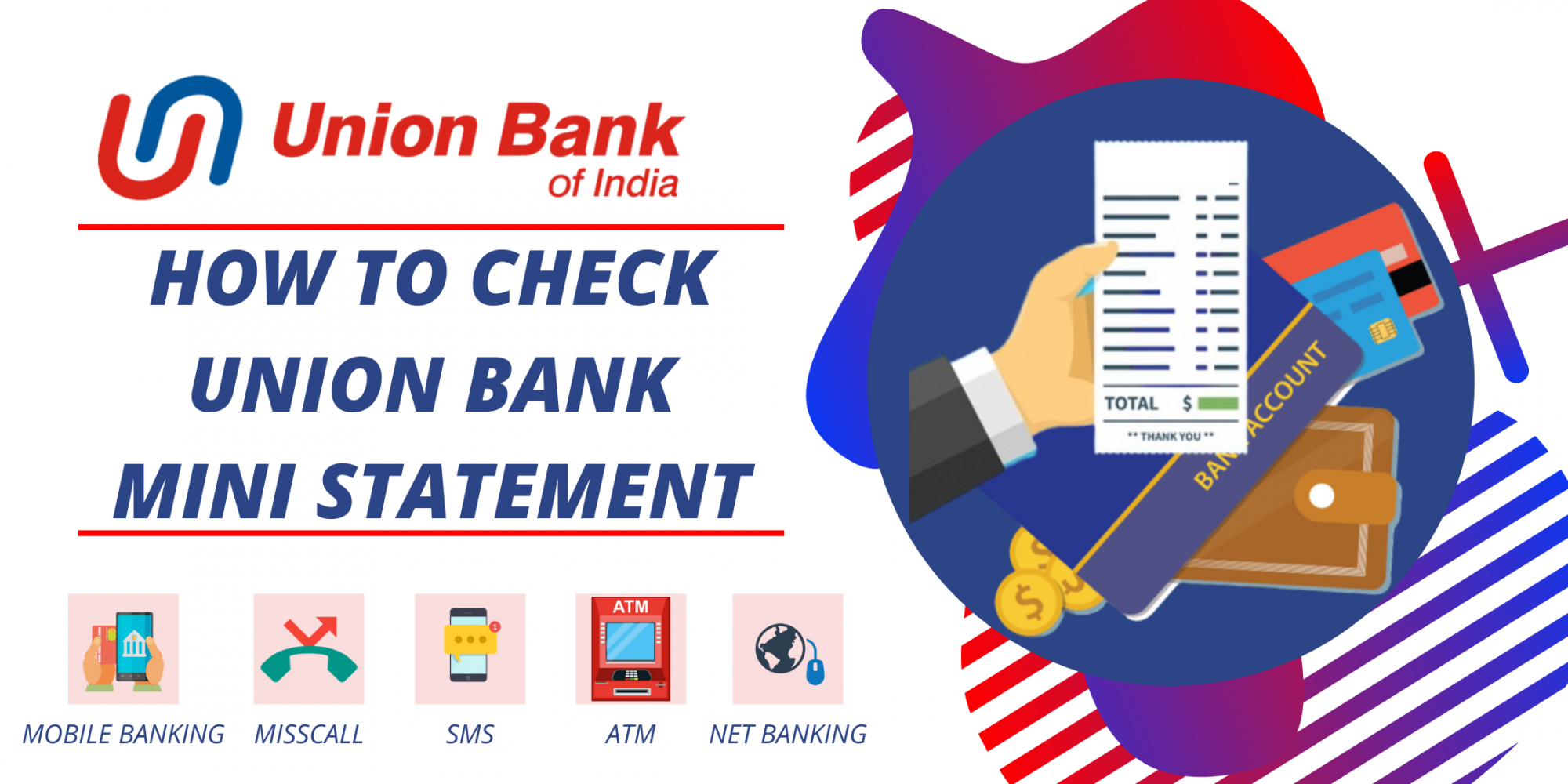 Check Mini Statement in Union Bank of India