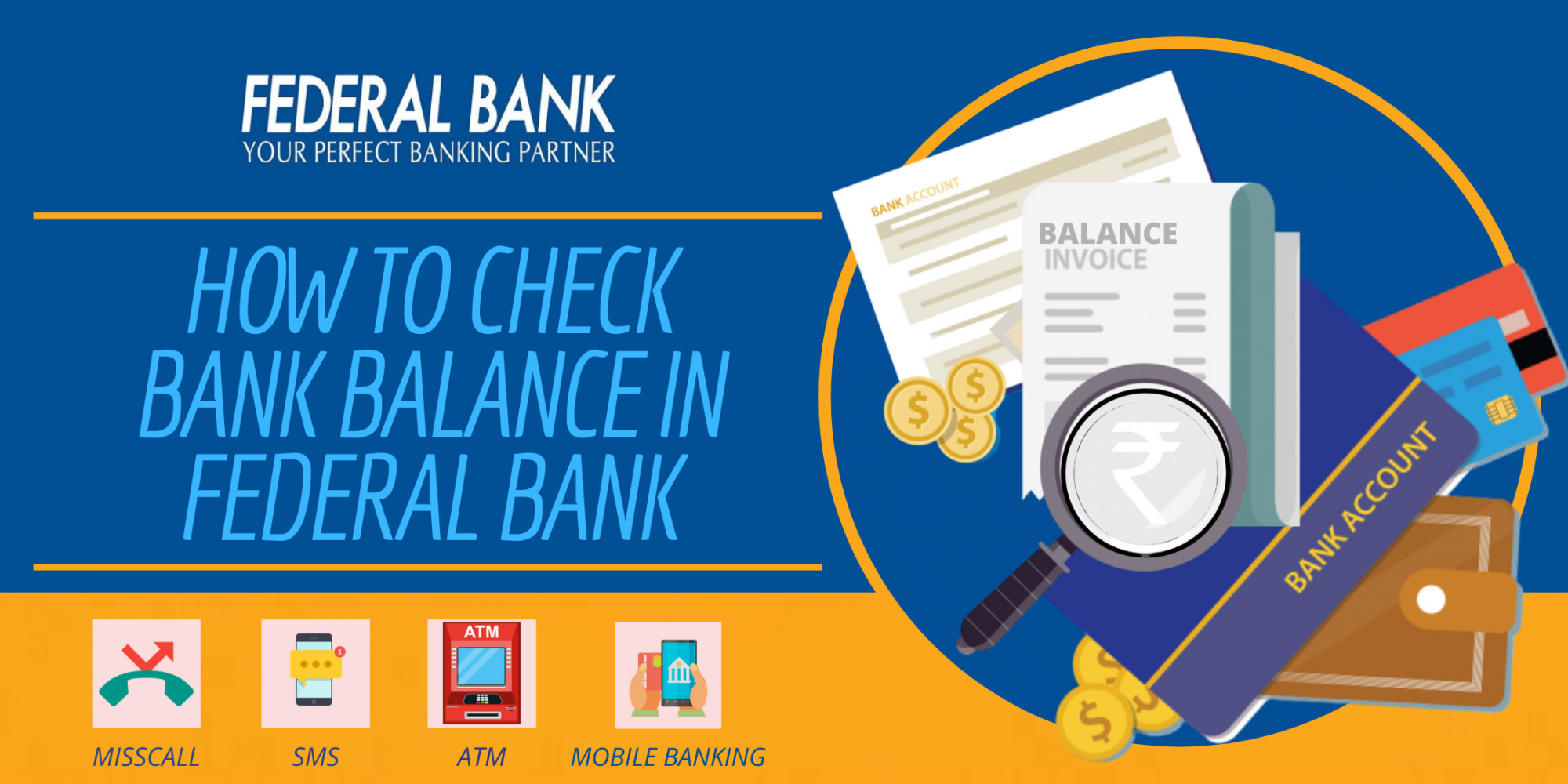 check Bank Balance in Federal Bank