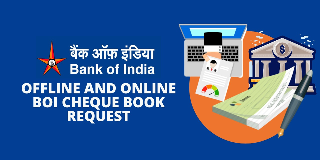 Offline and Online BOI Cheque Book Request