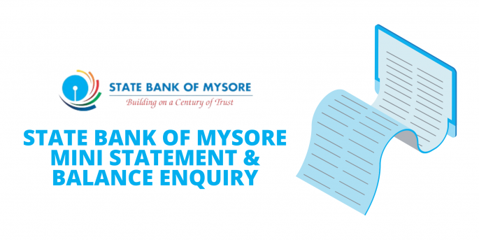 State Bank of Mysore Toll-Free Numbers - Mini Statement & Balance Enquiry